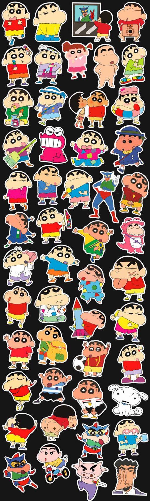 Crayon Shin-chan cartoon Stickers pack vinyl decals 50 pieces