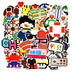 pixel cartoon game marvel stickers 50 pieces