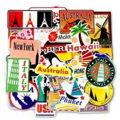 world Famous Tourism Country Map Laptop