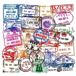 clear transparent vintage postmark stickers