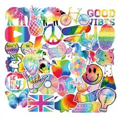 fancy rainbow style stickers 50 pieces