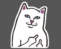 RIPNDIP Cat Sticker