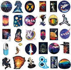 space explore nasa stickers 100 pieces