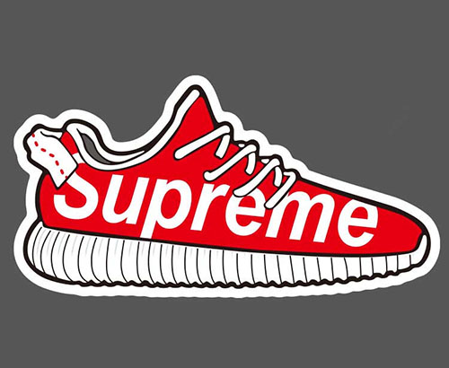 supreme sneaker sticker