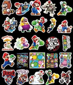 100 pieces Super Mario Cartoon Stickers