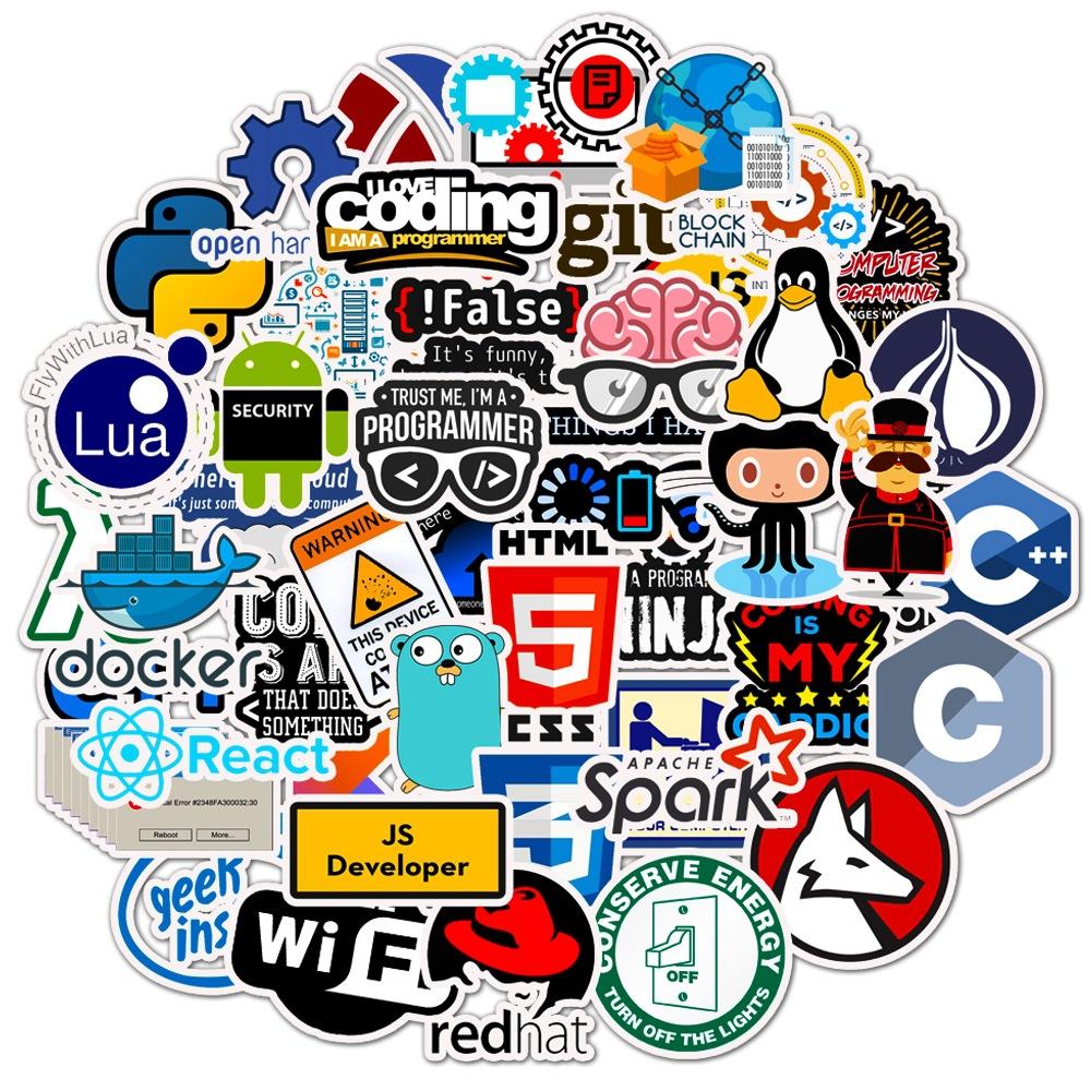developer programming sticker macbook laptop sticker