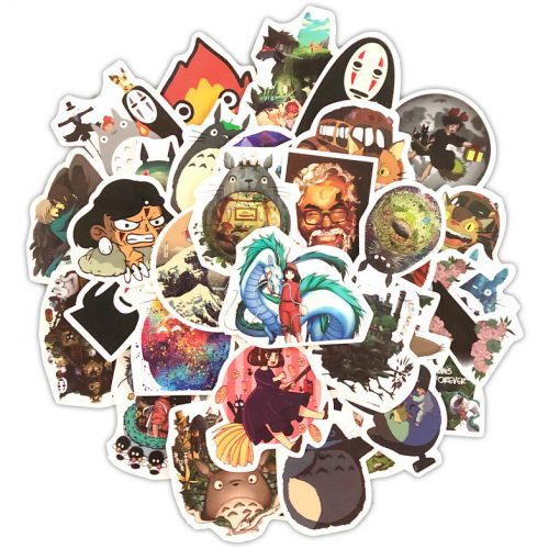 Cartoon Stickers Pack 50Pcs Japan Miyazaki Hayao Anime Stickers