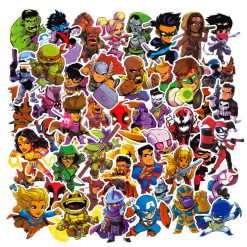 cute cartoon marvel super hero stickers pack vinyl stickers
