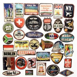 Vintage retro Outdoor Travel Stickers