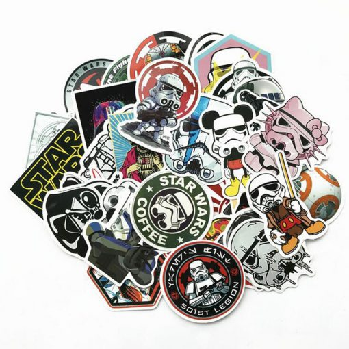 50pcs funny star wars stickers