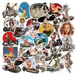 pinup pin up retro sexy girl stickers pack decals