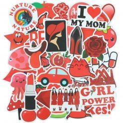 red vsco tone vinyl stickers