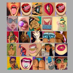 sexy nude pinup sticker decals lip bite stickers wholesale pack