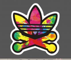 Adidas Sticker for car botter box phone decals bulk pack laptop mac phone box stickers