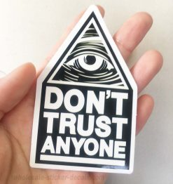 All Seeing Eye Don't Trust Anyone Sticker for car botter box phone decals bulk pack laptop mac phone box stickers