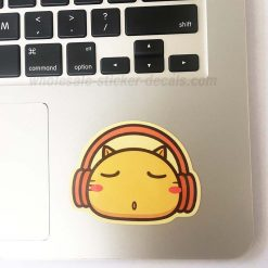 Cat with Headphone Sticker bulk pack skateboard laptop luggage car bumper decals