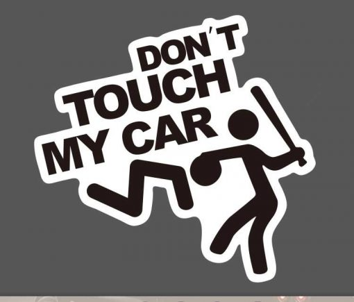 Don't Touch My Car Sticker bulk pack from wholesale sticker supplier