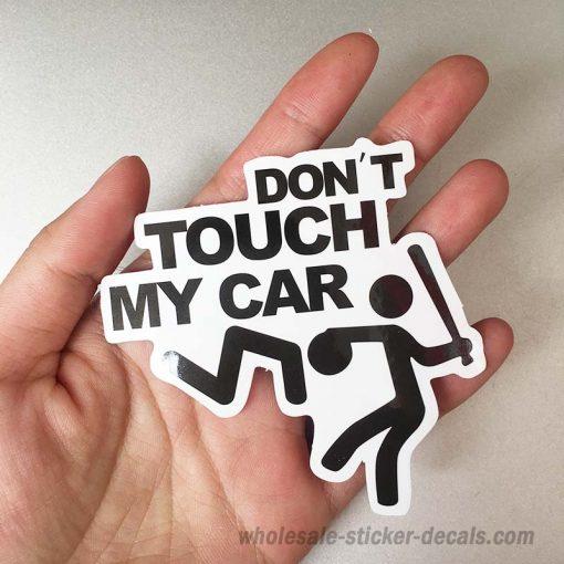 Don't Touch My Car Sticker bulk pack skateboard laptop luggage car bumper decals