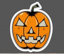 Halloween Pumpkin Sticker bulk pack from wholesale sticker supplier