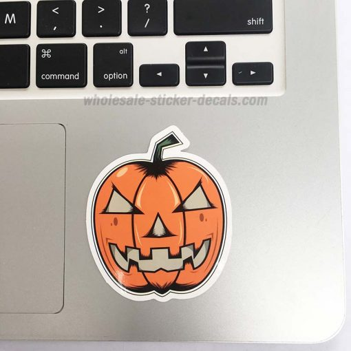 Halloween Pumpkin Sticker bulk pack skateboard laptop luggage car bumper decals