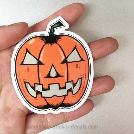 Halloween Pumpkin Sticker for car botter box phone decals bulk pack laptop mac phone box stickers