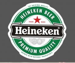 Heineken Beer Sticker bulk pack from wholesale sticker supplier