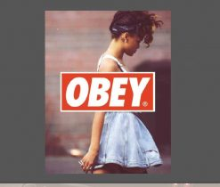 Obey Rihanna Sticker for car botter box phone decals bulk pack laptop mac phone box stickers