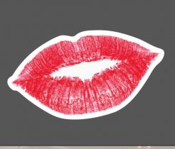 Red Lip Sticker bulk pack from wholesale sticker supplier