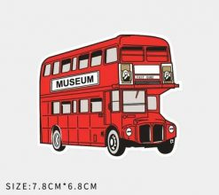 buy Small red london bus museum vinyl sticker pack wholesale decal