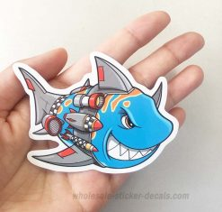 Shark With Rocket Sticker bulk pack from wholesale sticker supplier