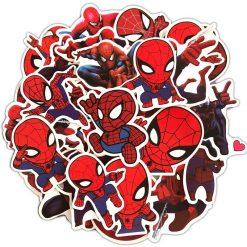 Spiderman Sticker bulk pack skateboard laptop luggage car bumper decals