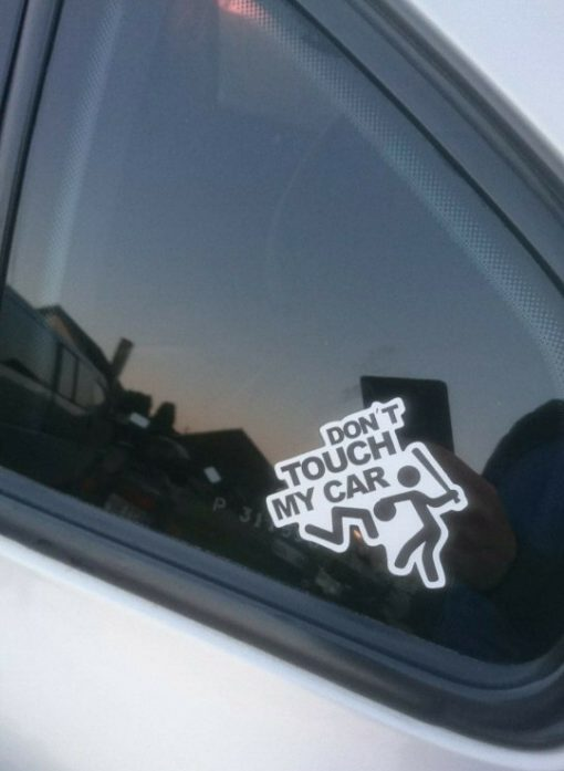 buy Don't Touch My Car Sticker for car botter box phone decals bulk pack laptop mac phone box stickers (2)