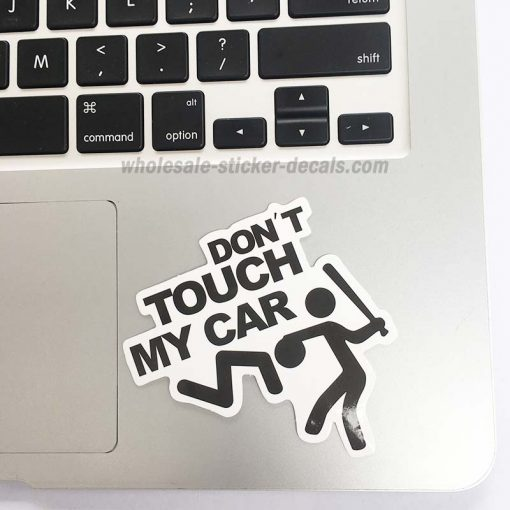 buy Don't Touch My Car Sticker for car botter box phone decals bulk pack laptop mac phone box stickers