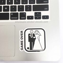 buy Game Over Wedding Sticker for car botter box phone decals bulk pack laptop mac phone box stickers