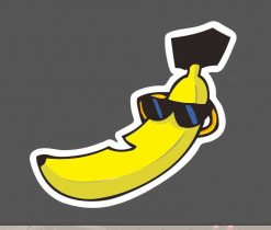 cool banana with sunglasses sticker wholesale sticker decal supplier