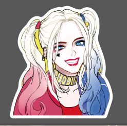 Harley Quinn vinyl skateboard bumper laptop sticker vinyl decals