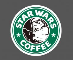 star wars funny starbuks vinyl sticker pack