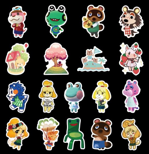50pcs animal crossing ns switch Sticker for car botter box phone decals bulk pack laptop mac phone box stickers