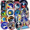 Space Shuttle NASA Missions Stickers for Laptop Scrapbooking Guitar Skateboard Waterproof Car Bumper Sticker Decals
