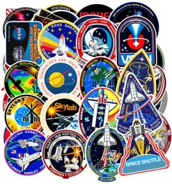 Space Shuttle NASA Missions Stickers for Laptop Scrapbooking Guitar Skateboard Waterproof Car Bumper Sticker Decals