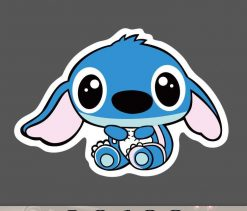 Cute Stitch Sticker for car botter box phone decals bulk pack laptop mac phone box stickers