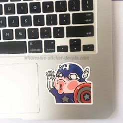 Funny Captain America Cartoon Sticker bulk pack skateboard laptop luggage car bumper decals
