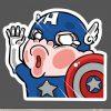 Funny Captain America Cartoon Sticker for car botter box phone decals bulk pack laptop mac phone box stickers pack