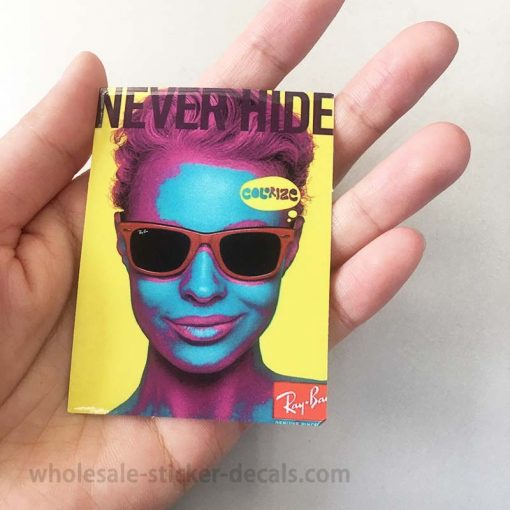 Never Hide Ray Ban Sticker bulk pack from wholesale sticker supplier