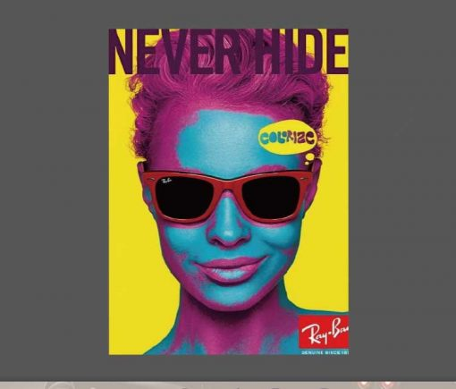 Never Hide Ray Ban Sticker for car botter box phone decals bulk pack laptop mac phone box stickers