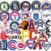 buy 30 pieces MLB Sticker for car botter box phone decals bulk pack laptop mac phone box stickers
