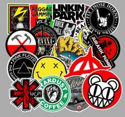 Punk Rock Music Bank Sticker bulk pack from wholesale sticker supplier