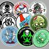 Zombie Outbreak Sticker 50pcs bulk pack skateboard guitar laptop luggage car bumper decals