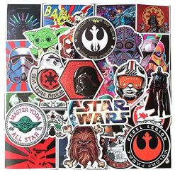 Buy star wars sticker decals 100 Pieces Sticker for car botter box phone decals bulk pack laptop mac phone box stickers