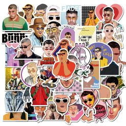Bad Bunny Stickers pack vinyl decals laptop skateboard car decals pack